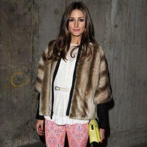 Tibi Faux Fur Jacket